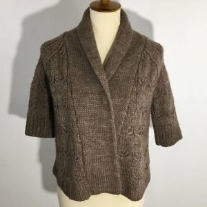 Loft Cable Knit Open Front Cardigan Sweater